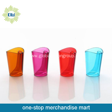 Plastic Toothbrush Holder Cup